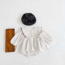 Newborn Baby Spring Autumn Romper Body Polka Dot Print Baby Romper Long Sleeve Ruffle Baby Girl Clot