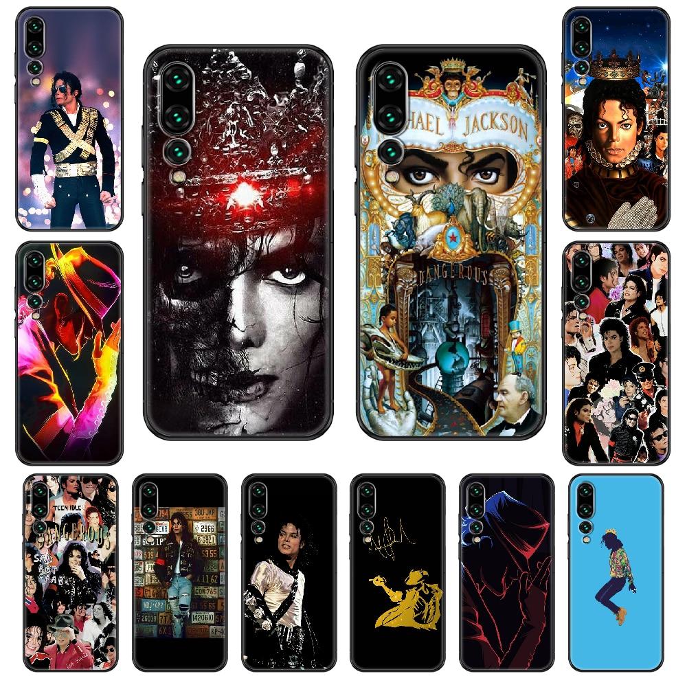 Michael Jackson Phone case For Huawei P 8 10 20 30 Smart Plus 2019 Z Lite Pro 2017 2019 black art coque tpu cell cover fashion