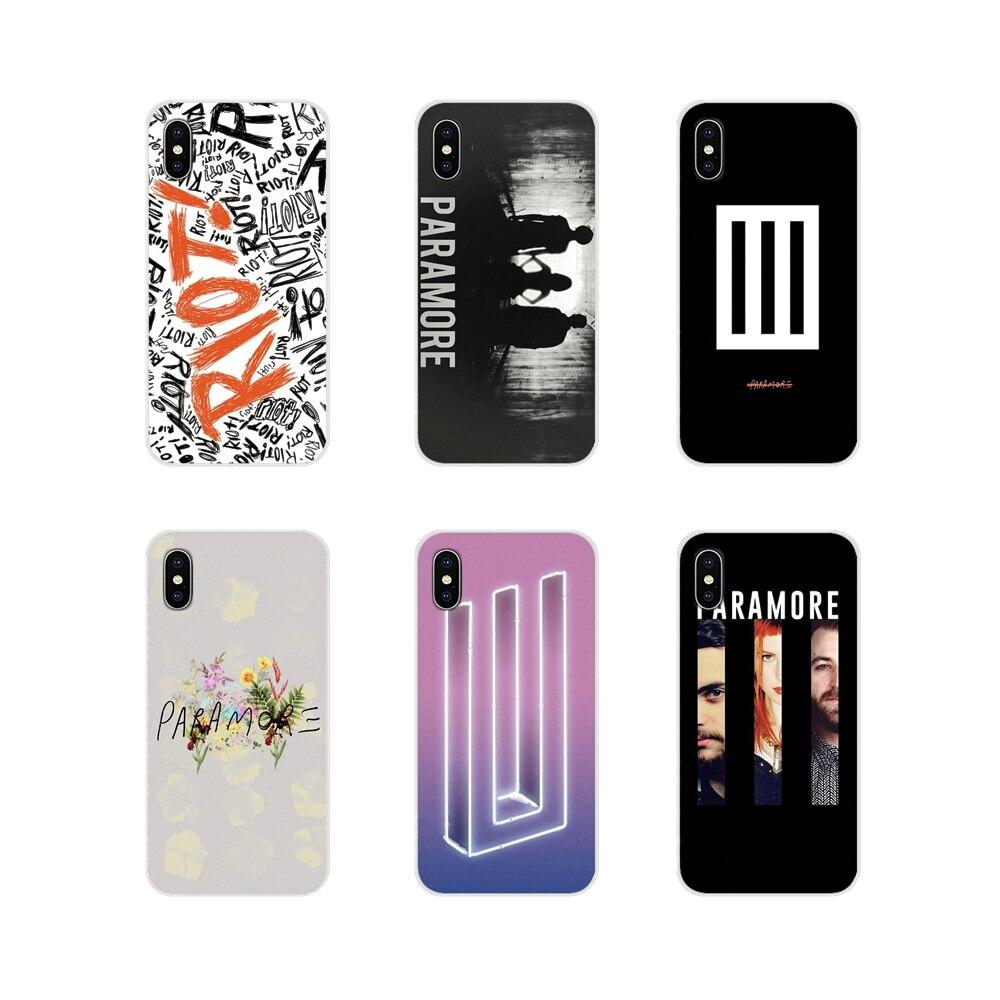 Paramore logotipo tres bares para Oneplus 3T 5T 6T Nokia 2 3 5 6 8 9 230 3310, 2,1, 3,1, 5,1, 7 Plus 2017 transparente 2018 de TPU caso