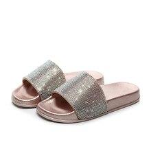 2020 femmes sandales diamant pantoufles strass femmes tongs mode femmes sandales chaussures femme