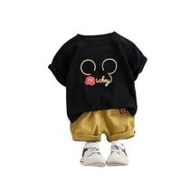 summer kids sets boy girl clothes sets cartoon print tops shorts 2 pcs suits toddler kids clothes kids cotton comfortable sets