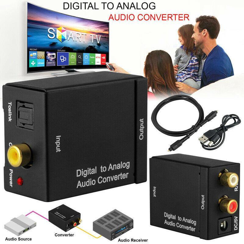 Adaptador coaxial óptico Digital a RCA analógico, convertidor de Audio con Cable...