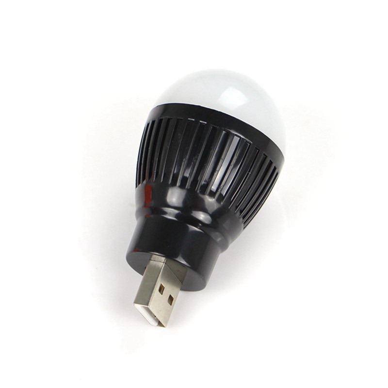 Mini bombilla LED USB redonda para exteriores, lámpara de emergencia para exteriores, lámpara para portátil, luz de lectura con ahorro de energía para ordenador, Campin para exteriores