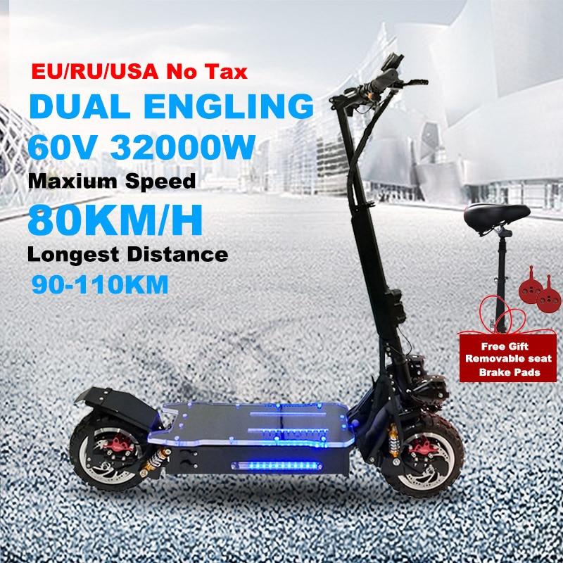 Patinete eléctrico todoterreno para adulto, Scooter plegable de 11 pulgadas, con batería...