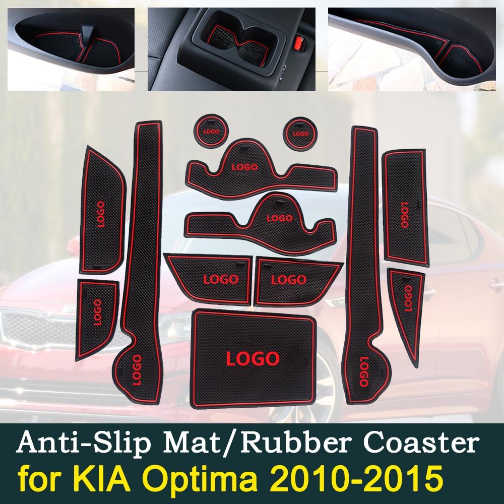Cojín de goma para puerta antideslizante para KIA Optima 2010 2015 2011 2012 2013 2014 Kia K5 TF MK3 accesorios de Interior para coche