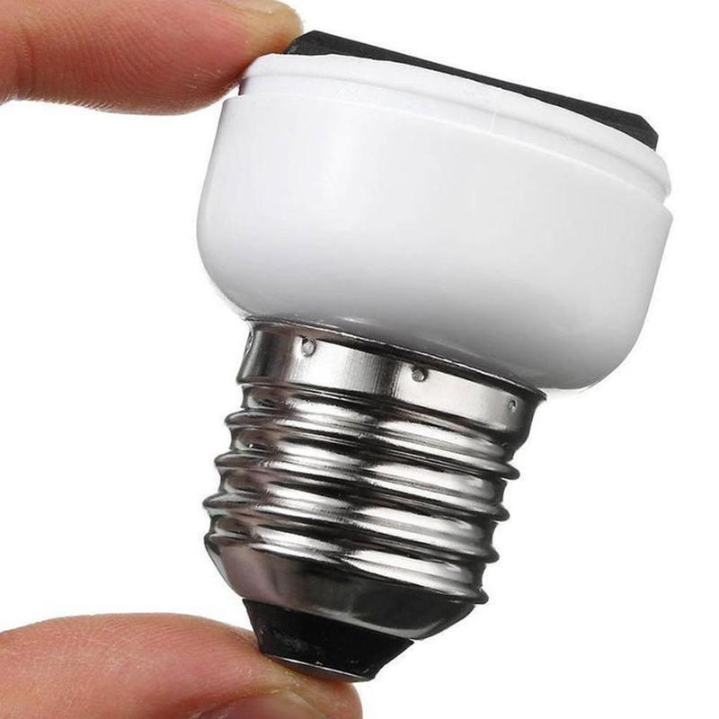 E27/b22/e14 Abs Us/eu conector de clavija accesorios portalámparas accesorio de iluminación base de bombilla adaptador de tornillo toma de lámpara blanca
