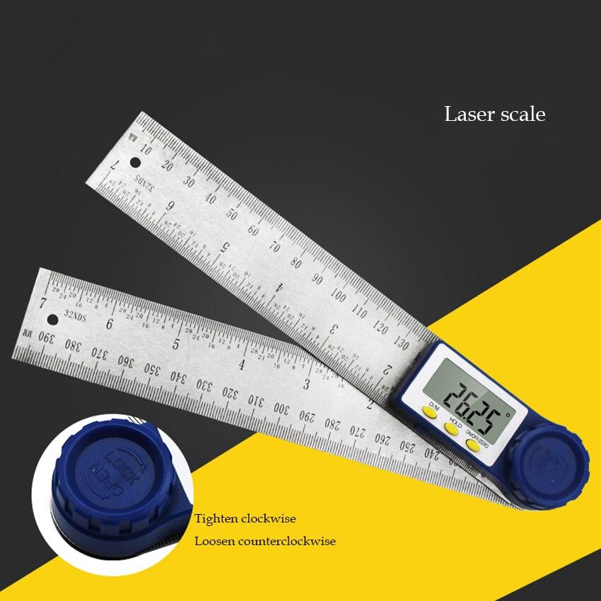 Digital ángulo regla 0-200mm de acero inoxidable electrónica transportador inclinómetro goniómetro de alta precisión ángulo Regla de medición