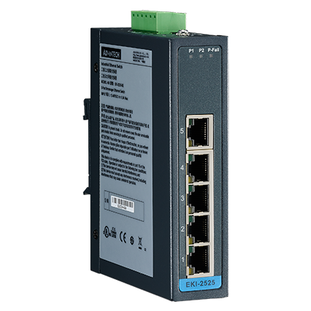 5 Ports 10/100mbps Self-negotiation Fast Ethernet Unmanaged Industrial Ethernet Switch With Din-Rail 12~48VDC Input enlarge