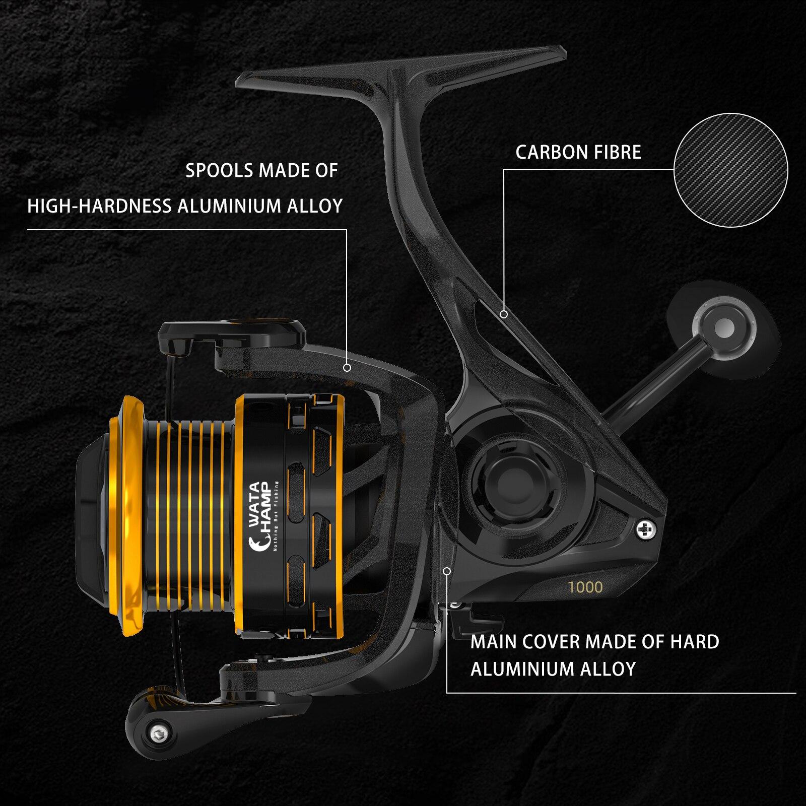 WataChamp Saltwater Freshwater Spinning Reel 6.2:1 Gear Ratio 8+1 Balls Bearings Fishing Reel For Catfish Bass Fishing Reel enlarge