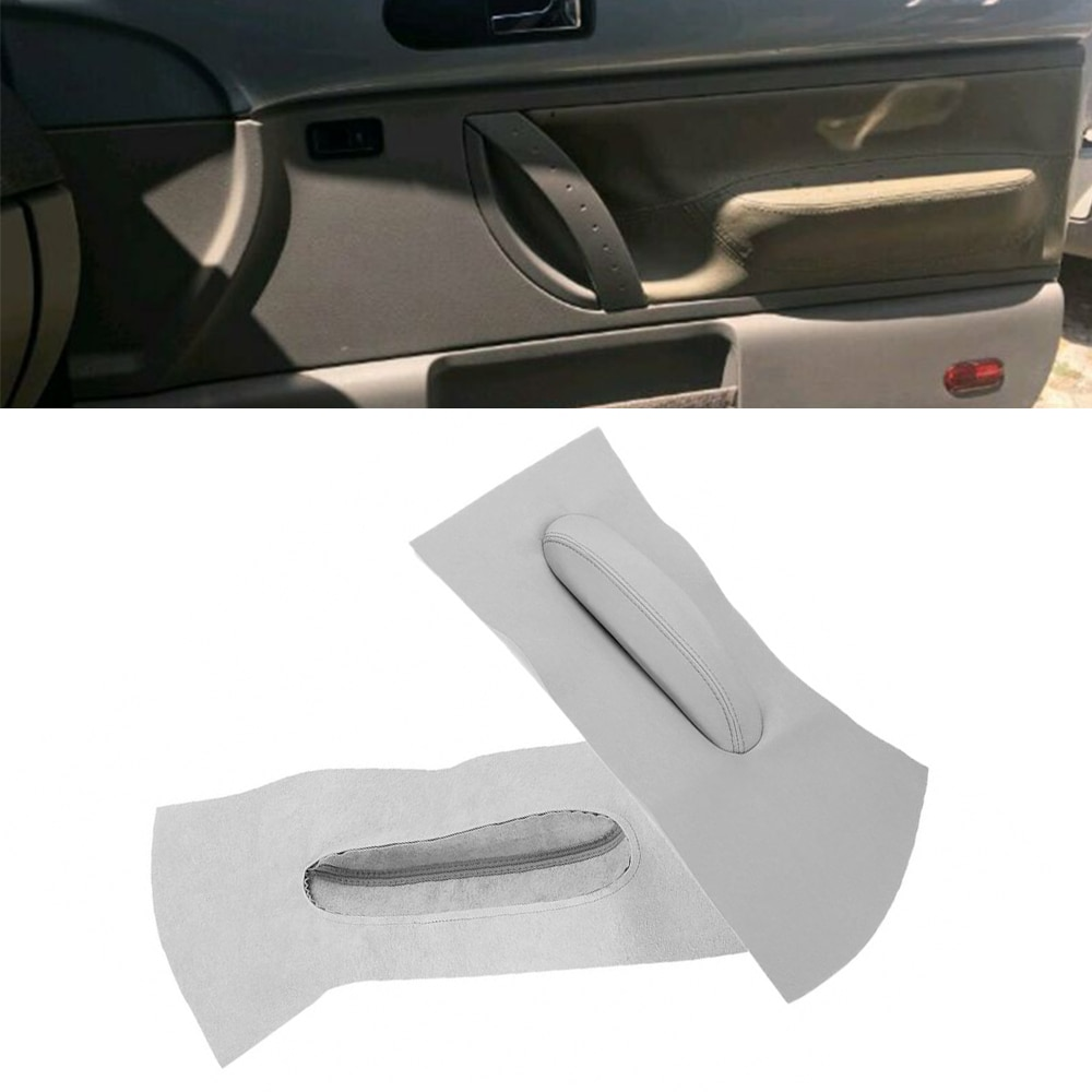 New Arrival High Quality 2pcs Door Panel Insert Cards Synthetic Leather Gray For Beetle 1998-2010