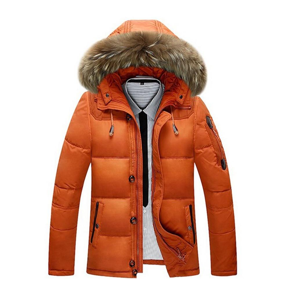 -سترة شتوية رجالية للثلج درجة 30 درجة موضة 2020 جديدة سميكة دافئة بيضاء بطة للأسفل ماركة سترة معطف رجالي أسود