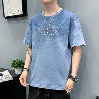 2021 cotton men\'s short-sleeved summer thin T-shirt
