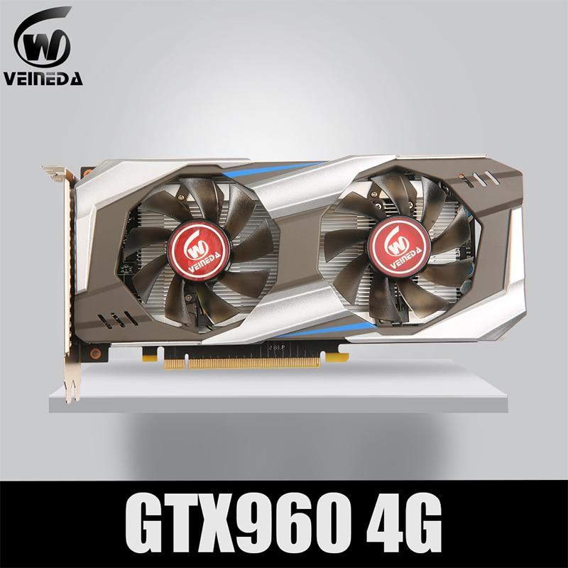 VEINEDA PC Video Card Original GTX 960 4GB 128Bit GDDR5 Graphics Cards DVI Cards  GTX960 4gb  DVI For nVIDIA Geforce Game