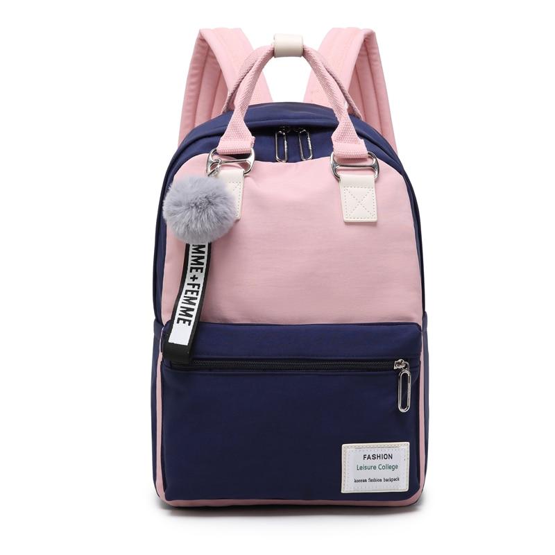 Student Women School Bag Waterproof Nylon Backpack for Teenage Girls Female Outdoor Travel Backpacks Mochila