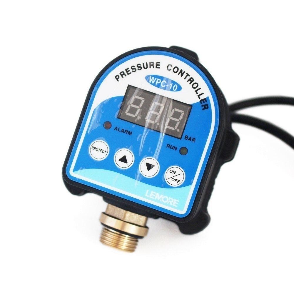 """Interruptor de Control de Presión WPC-10 Digital, Pantalla Digital WPC 10 Electrónico Regulador de Presión para la Bomba de Agua Con G1/2 """"adaptador"""