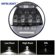 5,75 Zoll LED Motorrad Scheinwerfer Montage DRL Fahren Kopf Licht Hohe Abblendlicht Lampe für Harley Dyna Sportster 1200 XL 883