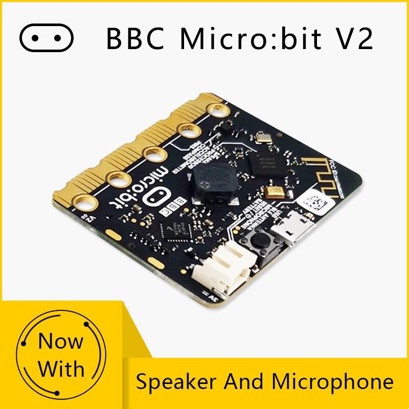 Модернизированный процессор BBC Micro:Bit V2, емкостный сенсорный датчик, встроенный микрофон для динамиков, светодиодный индикатор BLE 5.0 для дете...