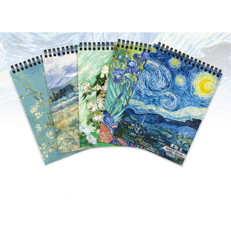 50 Sheets/Book A4 Paper Sketchbook Diary Painting Galaxy Universe Cover Blank Paper Memo Notebook School Office Stationery 2021