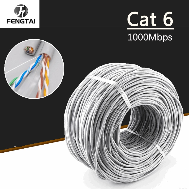 Cable Ethernet Cat6, Cable Lan UTP CAT 6, red RJ 45, 10m/30m/50m,...