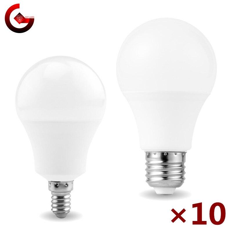 10 unids/lote Bombilla LED E27 E14 20W 18W 15W 12W 9W 6W...