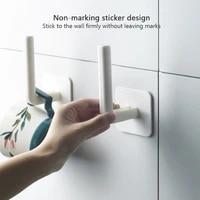 Porte-rouleau de papier auto-adhesif  1 piece  sous-meuble  accessoires de cuisine  cintre pour mouchoirs  support de rangement pour salle de bain et toilettes