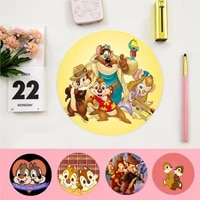 disney chip and dale beautiful anime round mouse mat computer desk mat for gaming