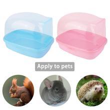 Small Pet Bathroom Hamster Bath Sand Room House Sauna Toilet Bathtub Plastic House Pet Supplies Guinea Pig Accessories