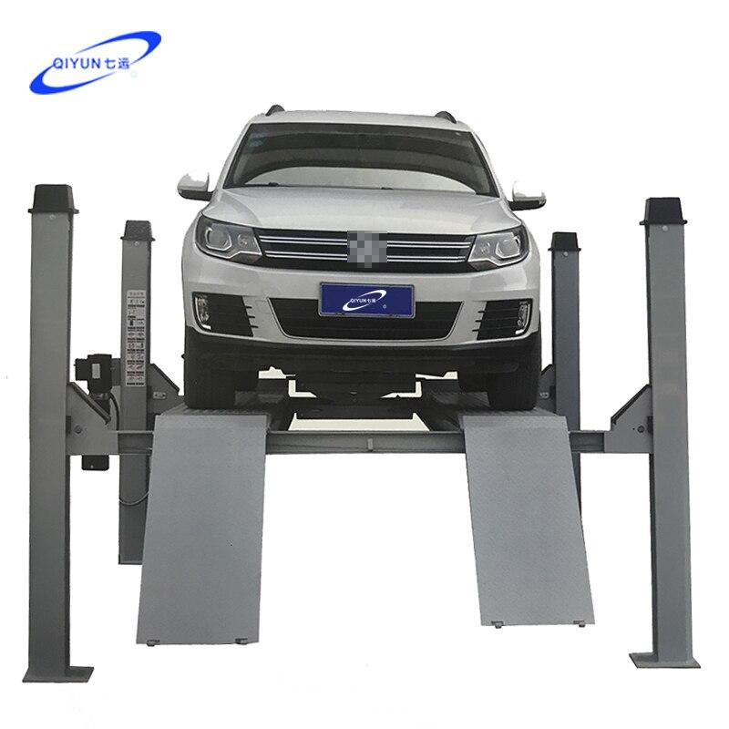 Montacoches rueda de Posicionamiento especial cuatro poste elevador hidráulico tijera gato equipo de elevación carga 4000kg