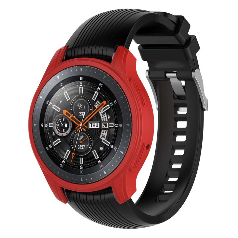 Купить с кэшбэком Silicone Soft Shell Protective Frame Case Cover Skin For Samsung Galaxy Watch 46mm Gear S3 Frontier