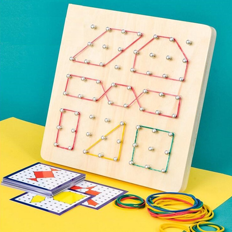 New Montessori Toys Kids Creative Graphics Rubber Tie Nail Boards Educational Toys Speelgoed Voorsch