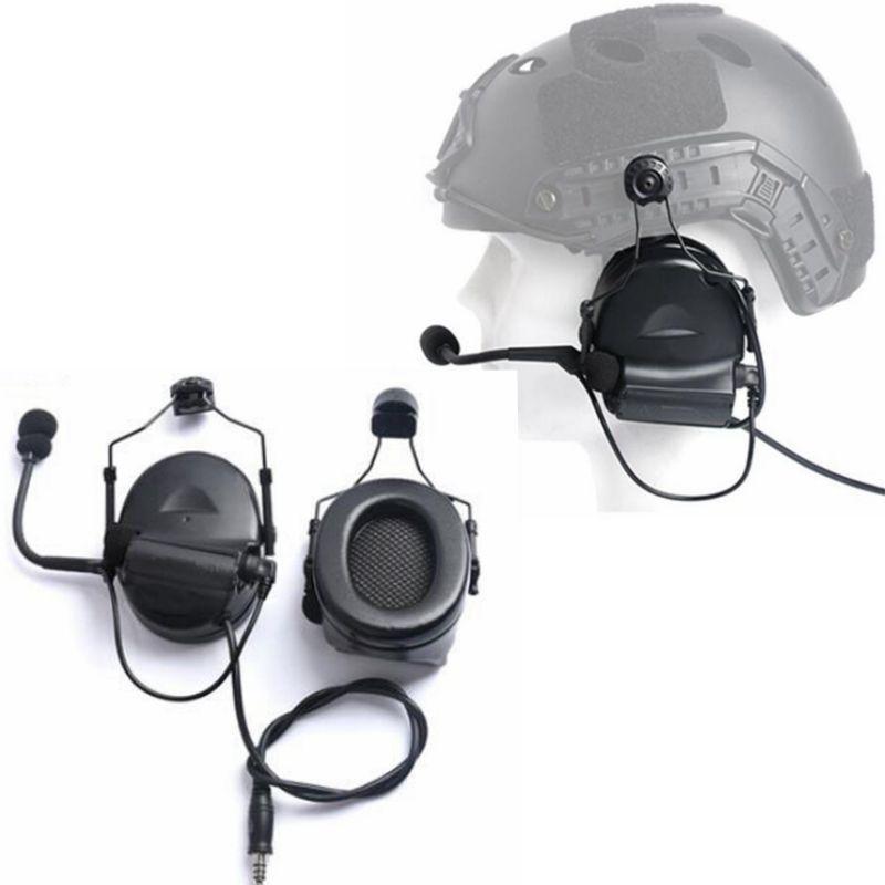 Nuevo casco táctico auriculares sin recoger ruido reducir la función Airsoft auricular C2 Comtac II ARC Softair soporte de auriculares