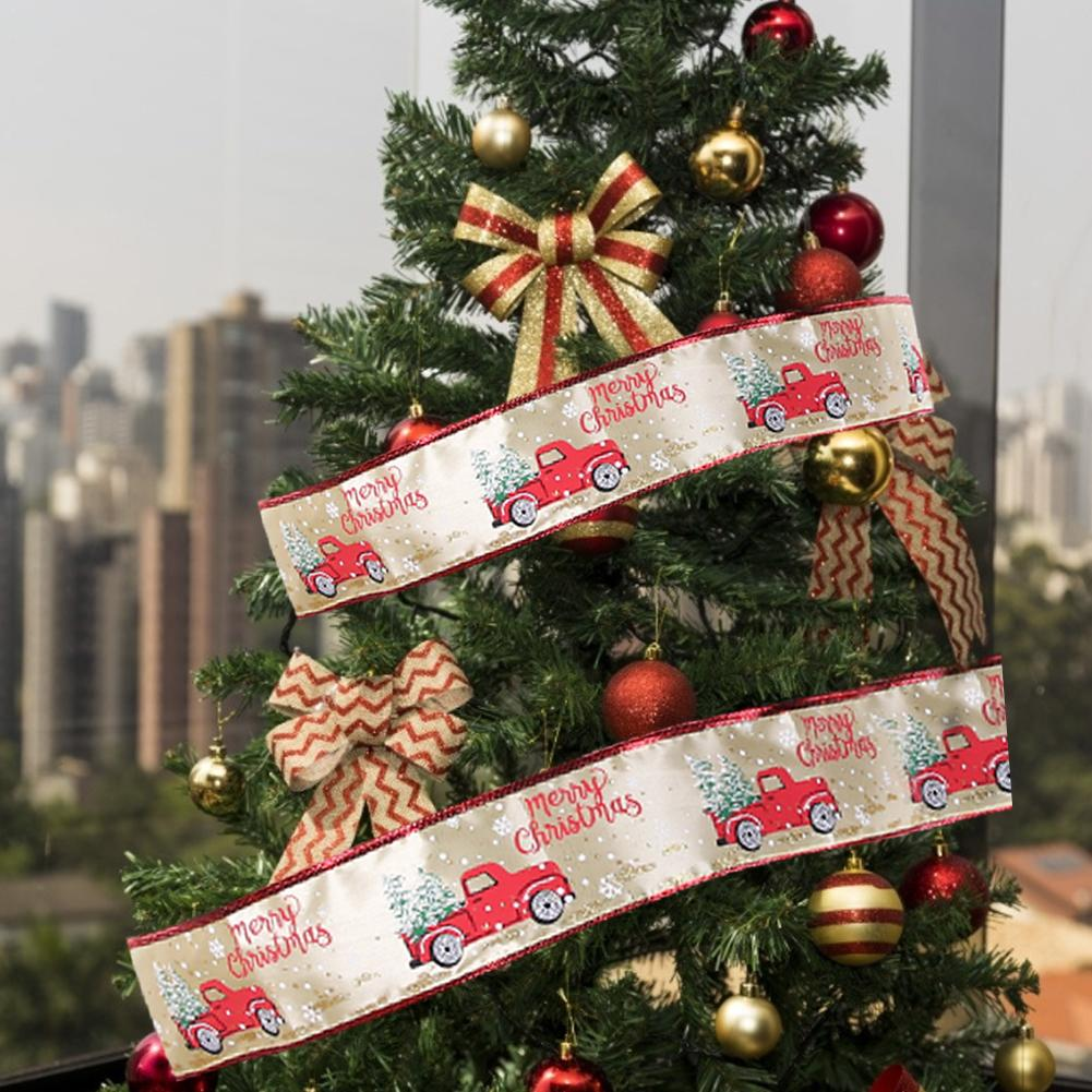 10M camión de Navidad cable borde cinta bien cintas de lino para árbol de Navidad decoración de Año Nuevo de la decoración de la boda, regalo