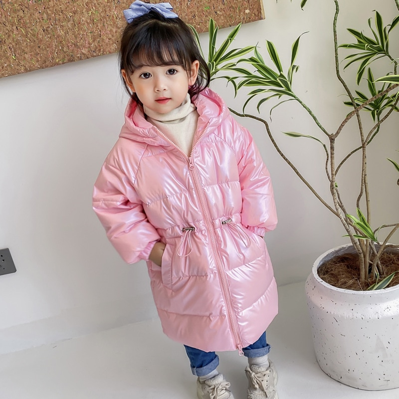 Long Winter Jacket Kids Girl Hooded Snowsuit Parka Girls Thick Warm Coat For Girls Jacket Children Clothes Soft Down Jacket winter clothes for boys kids down suits 2018 baby girl jacket clothes sets overalls warm children outerwear jumpsuit snowsuit