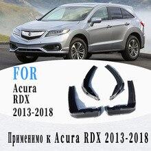 Lama-abas para acura rdx 2013-2018 guarda-lamas respingo guarda acessórios do carro estilo automático 4 peças