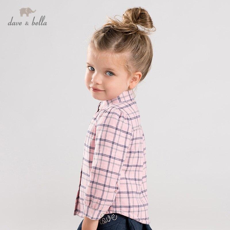DB12694 dave bella/зимние милые клетчатые топы для маленьких девочек; детская одежда высокого качества|Блузки и рубашки| | АлиЭкспресс