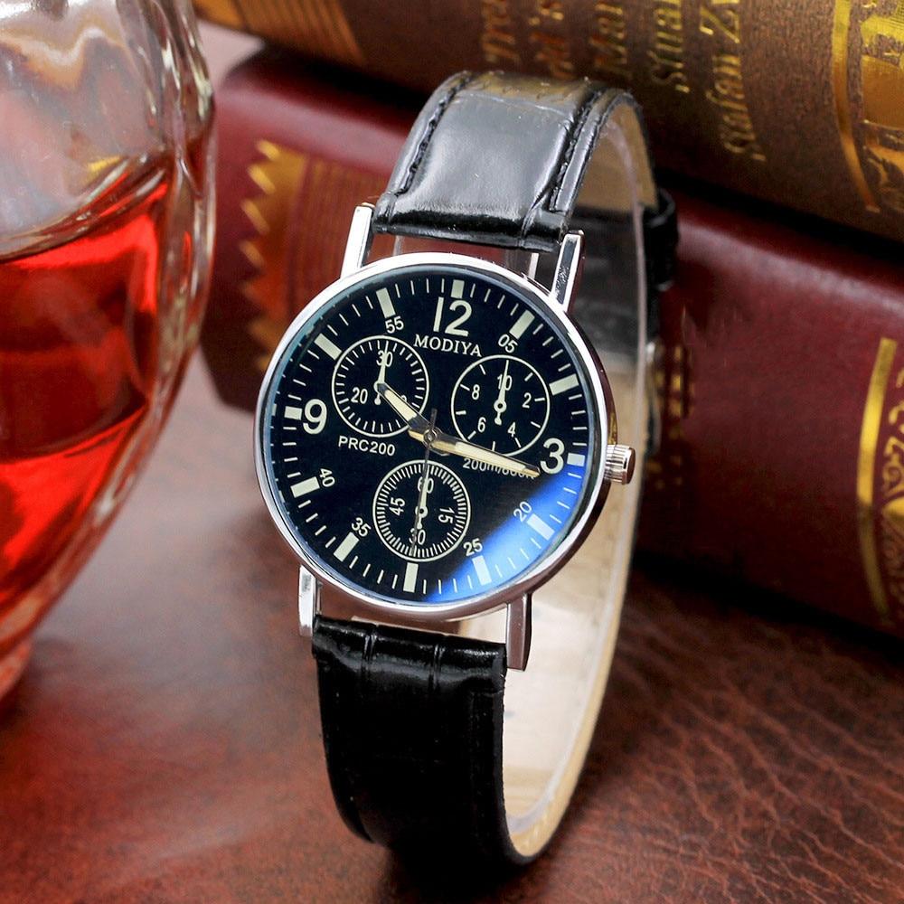 2021 Relogio Masculino Watches Men Fashion Sport Stainless Steel Case Leather Strap Watch Quartz Bus
