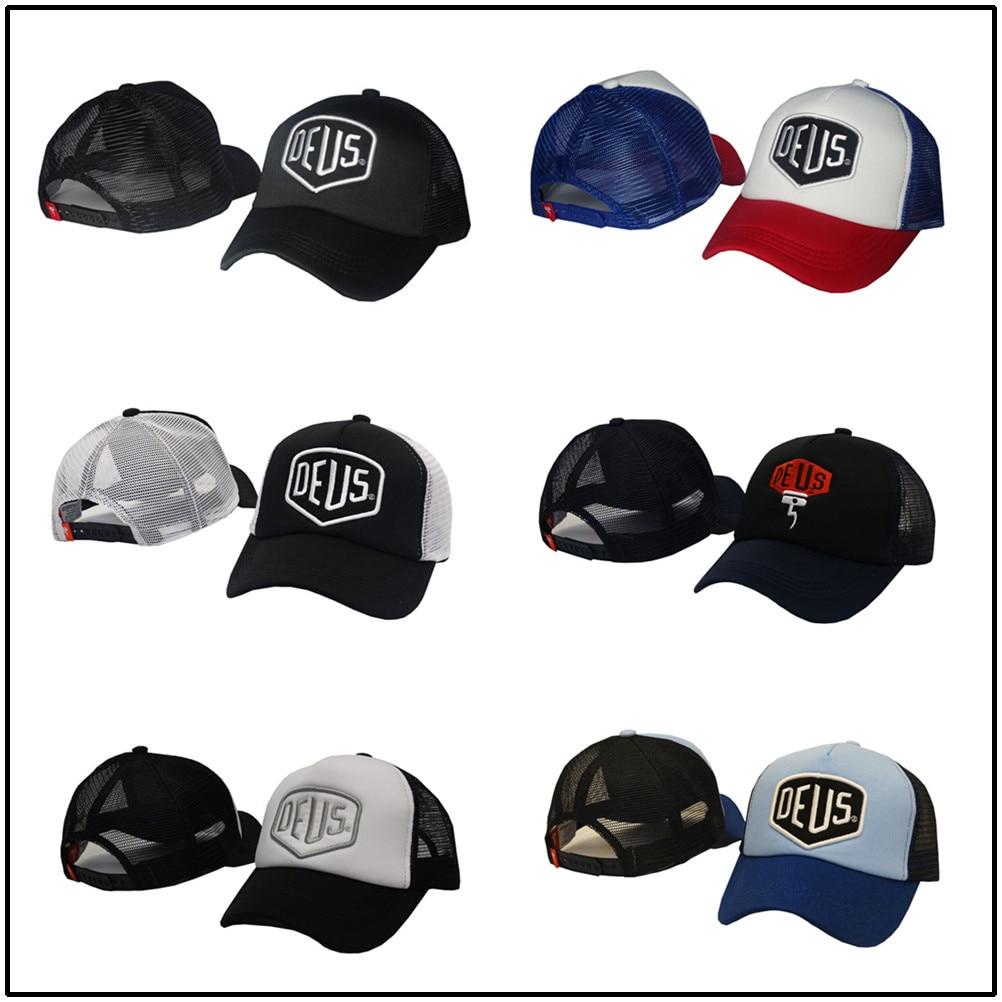 New spring and summer embroidery caps outdoor sun hat mesh printing baseball cap men deus net cap wo