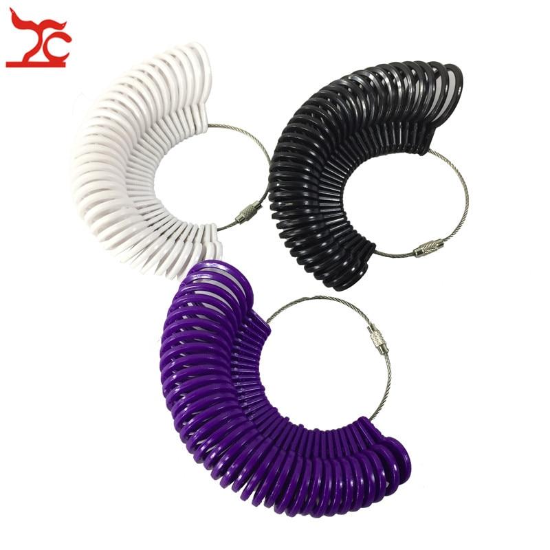 UNS Gauge Finger Ring Sizer Kunststoff Schmuck Machen Messung Dorn Standard Größe Werkzeug Bequem Ring Finger Sizer Gauge