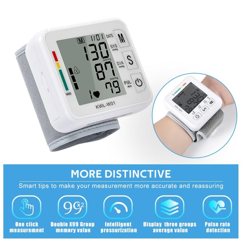 Automatic Wrist Blood Pressure Monitors Digital LCD Display Sphygmomanometers Portable Watch Tonomet