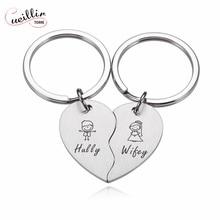 2 Pcs Anime Keychain Keyring Anniversary Gift Birthday Gift For Boyfriend Couple Key Chain  Keychain