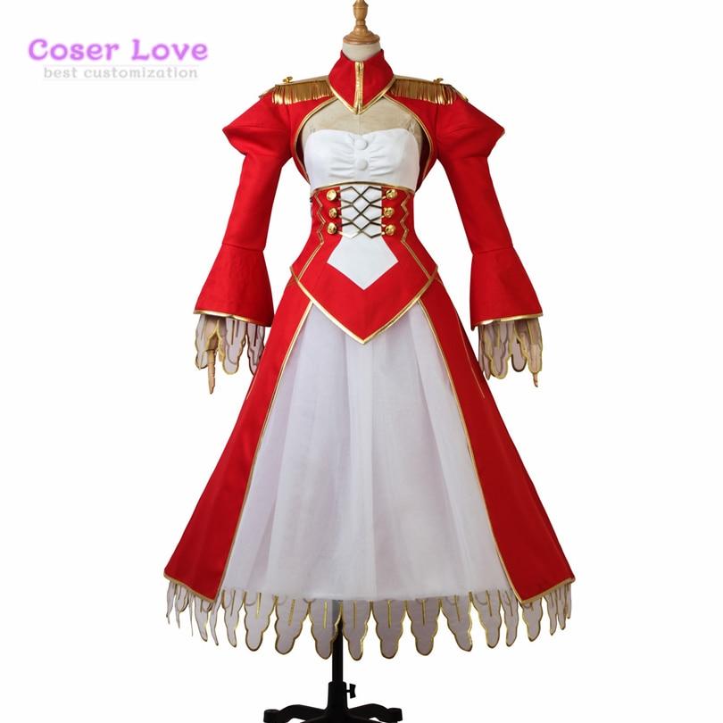 Fate Grand Order FGO saber Nero Claudius Caesar Augustus Germanicus Cosplay Costume Halloween Christmas  and New years