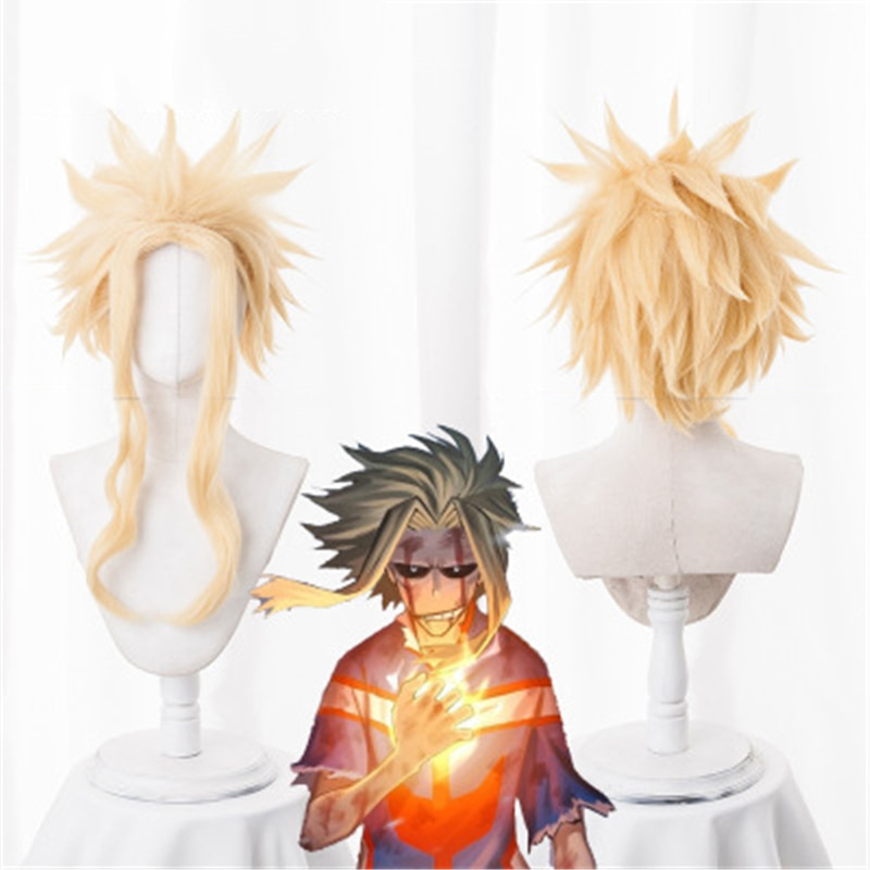 Anime mi héroe Academia todo podría Cosplay peluca Yagi Toshinori Boku No Hero Academia Carnaval de Halloween disfraz pelucas + peluca Cap
