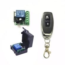 DC 12V 1CH relais récepteur Module RF émetteur 433Mhz sans fil télécommande commutateur apprentissage momentané bascule verrouillage code
