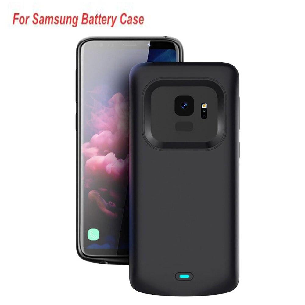 حافظة بطارية لهاتف Samsung Galaxy S8 S8 Plus S9 Note 8 9 Plus ، 5500 مللي أمبير ، غطاء بطارية فائق ، شاحن بطارية