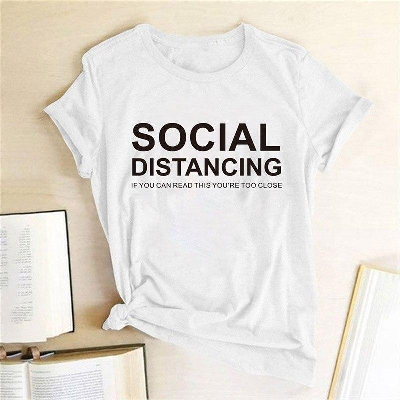 Женская футболка, если вы читаете слишком близко, Вы найдете отличительную футболку с надписью, футболки с коротким рукавом, женская одежда