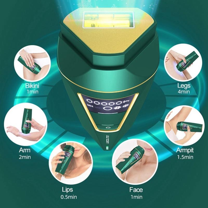 Lescolton 400000 Flashes IPL Laser Hair Removal Permanent Epilator For Women Painless Ice Cool Photoepilator Facial Depilation enlarge