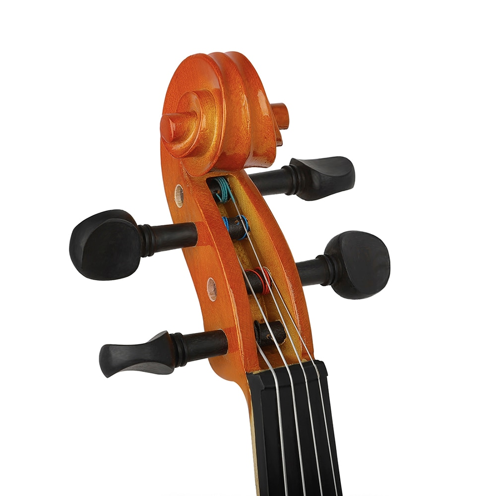 Professional 4/4 Electric Viola With EQ Spruce Panel Solid Wood Natural Viola Stringed Instrument With Case Bow For Music Lover enlarge