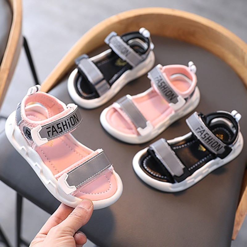 Summer Sandals For Kids Soft Lightweight Shoes For Boys Girls Sandals Soft Soled Anti-Slip Casual Children Beach Shoes 3-12 Year