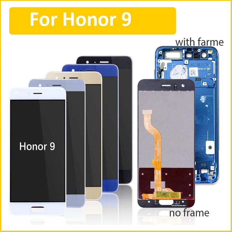100% pantalla probada para Huawei Honor 9 STF-L09 STF-AL10 TL10 pantalla LCD Panel táctil Sensor digitalizador montaje + botones