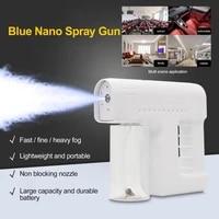 high quality wireless 300ml disinfection spray gun blue light nano atomization disinfection gun handheld sprayer nano atomizer